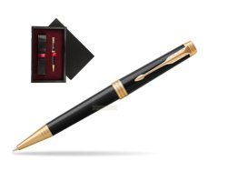 Parker Premier Black Lacquer GT Ballpoint Pen  single wooden box  Black Single Maroon