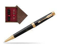 Parker Premier Black Lacquer GT Ballpoint Pen  single wooden box  Wenge Single Maroon