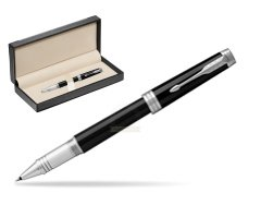 Parker Black Lacquer PT Rollerball Pen  in classic box  black