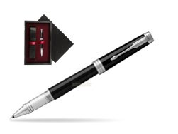 Parker Black Lacquer PT Rollerball Pen  single wooden box  Black Single Maroon