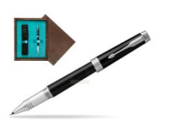 Parker Black Lacquer PT Rollerball Pen  single wooden box  Wenge Single Turquoise