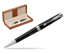 Parker Premier Black Lacquer PT Ballpoint Pen  in classic box brown