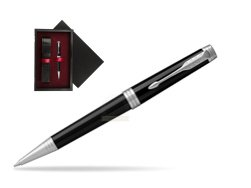 Parker Premier Black Lacquer PT Ballpoint Pen  single wooden box  Black Single Maroon