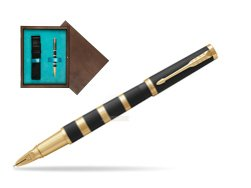 ParkerIngenuity Black Rubber and Metal GT 5-th Technology  single wooden box  Wenge Single Turquoise