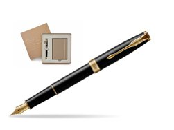 Parker Sonnet Black Lacquer GT Fountain Pen in a Gift Box