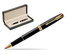 Parker Sonnet Black Lacquer GT Rollerball Pen  in classic box  black