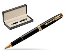 Parker Sonnet Black Lacquer GT Rollerball Pen  in classic box  pure black