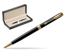Parker Sonnet Black Lacquer Slim GT Ballpoint Pen  in classic box  black