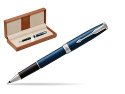 Parker Sonnet Subtle Blue CT Rollerball Pen  in classic box brown