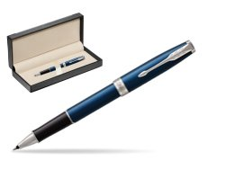 Parker Sonnet Subtle Blue CT Rollerball Pen  in classic box  black