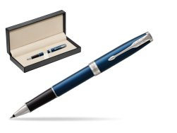 Parker Sonnet Subtle Blue CT Rollerball Pen  in classic box  pure black