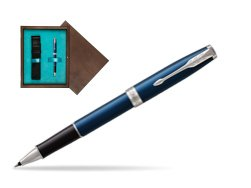 Parker Sonnet Subtle Blue CT Rollerball Pen in single wooden box  Wenge Single Turquoise