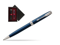 Parker Sonnet Subtle Blue CT Ballpoint Pen  single wooden box  Black Single Maroon