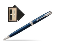 Parker Sonnet Subtle Blue CT Ballpoint Pen  single wooden box  Wenge Single Ecru