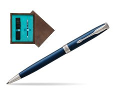 Parker Sonnet Subtle Blue CT Ballpoint Pen  single wooden box  Wenge Single Turquoise