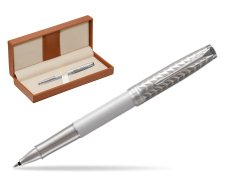 Parker Sonnet Metal & Pearl Lacquer CT Rollerball Pen  in classic box brown