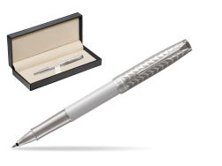 Parker Sonnet Metal & Pearl Lacquer CT Rollerball Pen  in classic box  pure black
