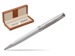 Parker Sonnet Metal & Pearl Lacquer CT Ballpoint Pen  in classic box brown