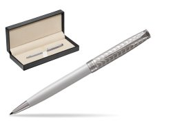 Parker Sonnet Metal & Pearl Lacquer CT Ballpoint Pen  in classic box  pure black
