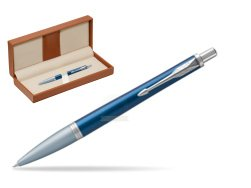Parker Urban Premium Dark Blue CT Ballpoint Pen  in classic box brown