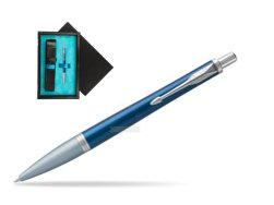 Parker Urban Premium Dark Blue CT Ballpoint Pen  single wooden box  Black Single Turquoise