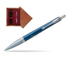 Parker Urban Premium Dark Blue CT Ballpoint Pen in single wooden box Mahogany Single Maroon