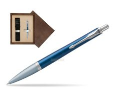 Parker Urban Premium Dark Blue CT Ballpoint Pen in single wooden box  Wenge Single Ecru