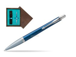 Parker Urban Premium Dark Blue CT Ballpoint Pen in single wooden box  Wenge Single Turquoise