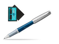 Parker Urban Premium Dark Blue CT Rollerball Pen  single wooden box  Black Single Turquoise