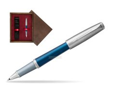 Parker Urban Premium Dark Blue CT Rollerball Pen in single wooden box  Wenge Single Maroon