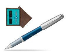 Parker Urban Premium Dark Blue CT Rollerball Pen  single wooden box  Wenge Single Turquoise