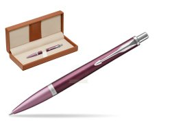 Parker Urban Premium Dark Purple CT Ballpoint Pen  in classic box brown