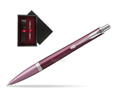 Parker Urban Premium Dark Purple CT Ballpoint Pen  single wooden box  Black Single Maroon