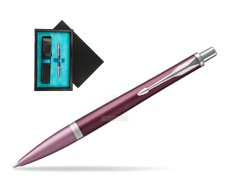Parker Urban Premium Dark Purple CT Ballpoint Pen  single wooden box  Black Single Turquoise