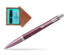 Parker Urban Premium Dark Purple CT Ballpoint Pen  single wooden box  Mahogany Single Turquoise