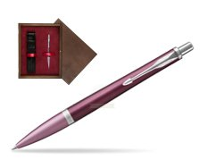 Parker Urban Premium Dark Purple CT Ballpoint Pen  single wooden box  Wenge Single Maroon