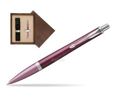 Parker Urban Premium Dark Purple CT Ballpoint Pen  single wooden box  Wenge Single Ecru
