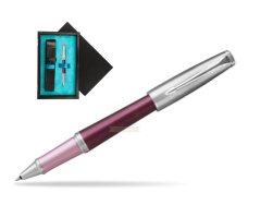 Parker Urban Premium Dark Purple CT Rollerball Pen  single wooden box  Black Single Turquoise