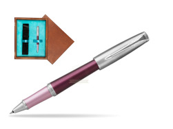 Parker Urban Premium Dark Purple CT Rollerball Pen  single wooden box  Mahogany Single Turquoise