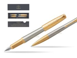 Parker Urban Premium Aureate Powder GT Fountain Pen + Ballpoint Pen in a Gift Box