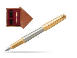 Parker Urban Premium Aureate Powder GT Fountain Pen  single wooden box Mahogany Single Maroon