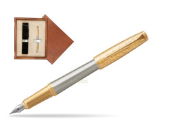 Parker Urban Premium Aureate Powder GT Fountain Pen  single wooden box  Mahogany Single Ecru