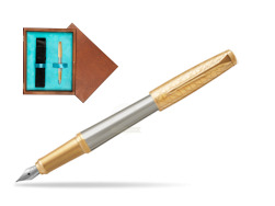 Parker Urban Premium Aureate Powder GT Fountain Pen  single wooden box  Mahogany Single Turquoise