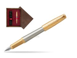 Parker Urban Premium Aureate Powder GT Fountain Pen  single wooden box  Wenge Single Maroon