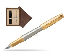 Parker Urban Premium Aureate Powder GT Fountain Pen  single wooden box  Wenge Single Ecru