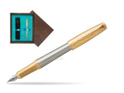 Parker Urban Premium Aureate Powder GT Fountain Pen  single wooden box  Wenge Single Turquoise