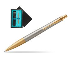 Parker Urban Premium Aureate Powder GT Ballpoint Pen  single wooden box  Black Single Turquoise