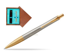 Parker Urban Premium Aureate Powder GT Ballpoint Pen  single wooden box  Mahogany Single Turquoise