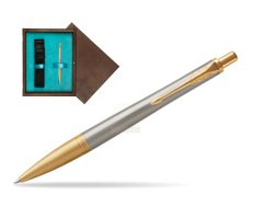 Parker Urban Premium Aureate Powder GT Ballpoint Pen  single wooden box  Wenge Single Turquoise