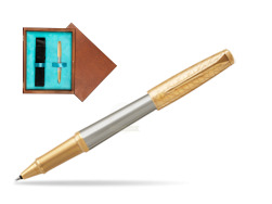 Parker Urban Premium Aureate Powder GT Rollerball Pen  single wooden box  Mahogany Single Turquoise